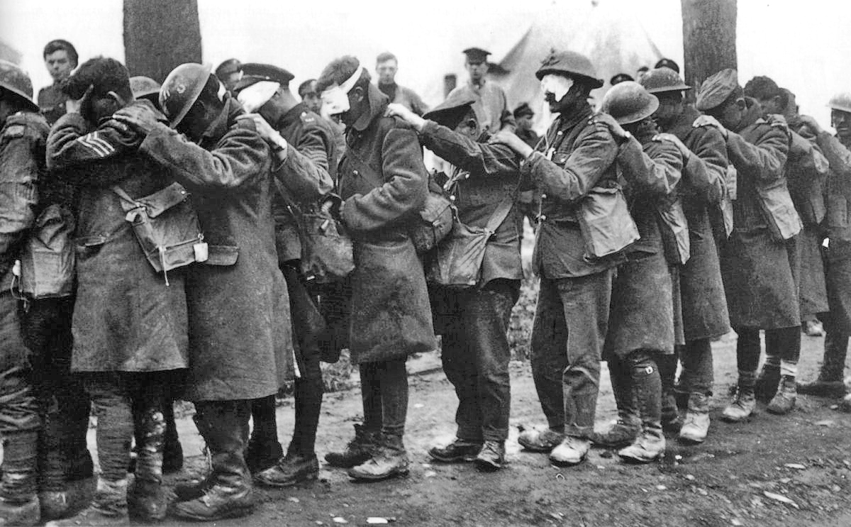 British casualties of a mustard gas attack.