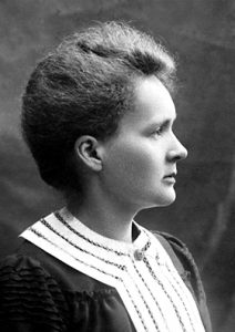 Maria Curie. See source below.